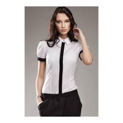 Koszula Black & White k33 Biała. Białe koszule damskie marki NIFE, eleganckie. Za 73,00 zł.