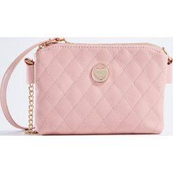 Torebki i plecaki damskie: Torebka z pikowanej ekologicznej skóry little princess – Różowy
