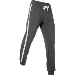 Spodnie sportowe, długie bonprix czarny melanż. Czarne spodnie dresowe damskie marki bonprix, z dresówki. Za 74,99 zł.