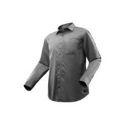 Koszula turystyczna długi rękaw TRAVEL 500 modułowa męska. Brązowe koszule męskie na spinki marki LIGNE VERNEY CARRON, m, z bawełny. Za 99,99 zł.