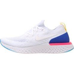 Nike Performance EPIC REACT FLYKNIT Obuwie do biegania treningowe white/racer blue/pink. Brązowe buty do biegania męskie marki N/A, w kolorowe wzory. Za 639,00 zł.