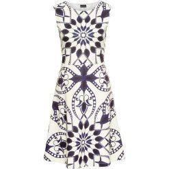 Sukienki: Sukienka z nadrukiem bonprix kremowo-ciemnoniebieski z nadrukiem