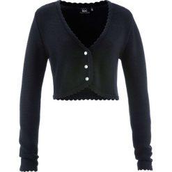Sweter rozpinany ludowy bonprix czarny. Czarne swetry rozpinane damskie marki bonprix. Za 89,99 zł.