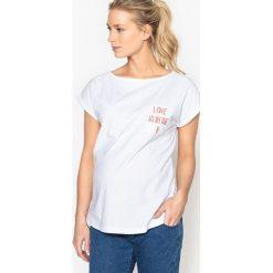 Bluzki, topy, tuniki: T-shirt ciążowy z napisem
