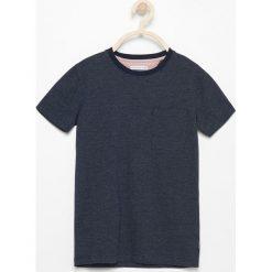 Odzież chłopięca: T-shirt ze wzorem w jodełkę – Granatowy