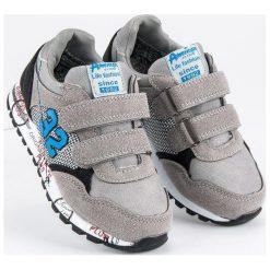 Szare buty sportowe  AMERICAN CLUB odcienie szarości i srebra. Szare buciki niemowlęce American CLUB. Za 99,00 zł.