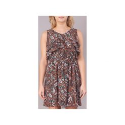 Sukienki krótkie Molly Bracken  LOSHA. Brązowe sukienki hiszpanki Molly Bracken, l, z krótkim rękawem, mini. Za 175,20 zł.