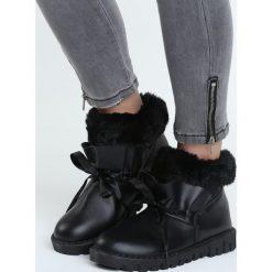 Buty zimowe damskie: Czarne Śniegowce Docility