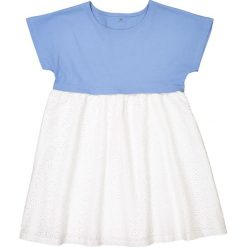 Sukienki dziewczęce z falbanami: Sukienka z dwóch rodzajów materiału 3-12 lat