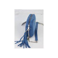 Torebki klasyczne damskie: Skórzana Fabioletka blue snake L/d