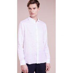 Koszule męskie na spinki: 120% Lino CAMICIA UOMO Koszula white