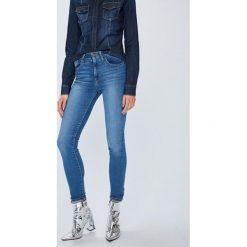 Levi's - Jeansy 721. Brązowe rurki damskie Levi's®, z bawełny, z podwyższonym stanem. Za 399,90 zł.