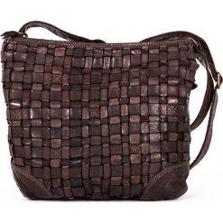 Torebki klasyczne damskie: Skórzana torebka w kolorze brązowym – 28 x 26 x 7 cm
