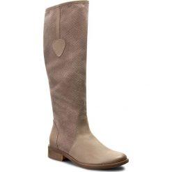 Buty zimowe damskie: Kozaki ROBERTO – 525 Cappucino