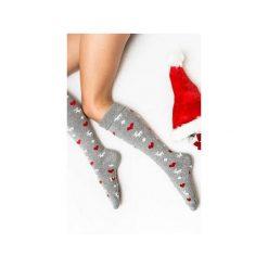 Ciepłe Podkolanówki na WALENTYNKI. Szare podkolanówki Mad socks, z bawełny. Za 45,00 zł.