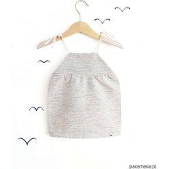 LEN sukienka pasiak. Białe sukienki dziewczęce Pakamera, w paski, ze lnu. Za 95,00 zł.