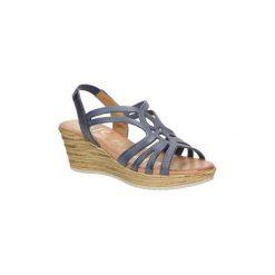 Sandały Oh My Sandals  Sandały skórzane na koturnie  3480. Brązowe sandały damskie marki Oh My Sandals, na koturnie. Za 129,99 zł.