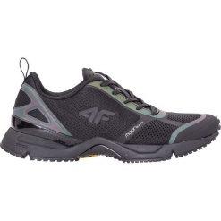 Buty do biegania damskie OBDS203Z - czarny - 4F. Czarne buty do biegania męskie 4f, z nadrukiem, z gumy. Za 279,99 zł.