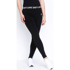 Spodnie damskie: Czarne Legginsy Casual Love