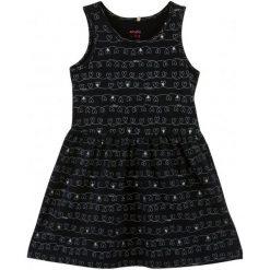 Sukienki dziewczęce z falbanami: Sukienka we wzorzysty deseń dla dziewczynki