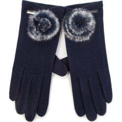 Rękawiczki Damskie WITTCHEN - 47-6-101-7 Granatowy. Niebieskie rękawiczki damskie Wittchen, z materiału. Za 99,00 zł.