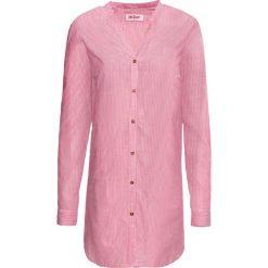 Długa bluzka koszulowa, długi rękaw bonprix czerwień granatu - biały w paski. Czerwone bluzki koszulowe bonprix, w paski, z długim rękawem. Za 49,99 zł.