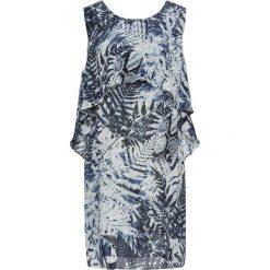 Sukienki: Sukienka z narzutką bonprix niebiesko-biel wełny z nadrukiem
