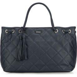 Torebka damska 86-4Y-661-7. Niebieskie shopper bag damskie Wittchen, w geometryczne wzory, pikowane. Za 179,00 zł.