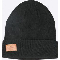 Quiksilver - Czapka. Czarne czapki zimowe męskie Quiksilver, z dzianiny. W wyprzedaży za 69,90 zł.