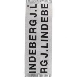 J.LINDEBERG FRAME  Szal black. Czarne szaliki damskie J.LINDEBERG, z materiału. W wyprzedaży za 356,30 zł.