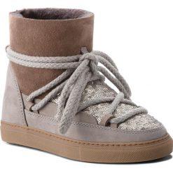 Buty INUIKII - Sneaker 70202-7 Sequin Grey. Szare buty zimowe damskie Inuikii, z nubiku. Za 1129,00 zł.