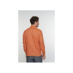 Koszula Strong D1615/136S. Brązowe koszule męskie na spinki Delikatessen, l, z bawełny, z dekoltem na plecach. Za 480,00 zł.