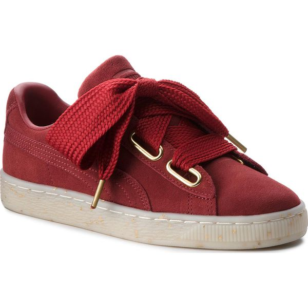 Sneakersy PUMA Suede Heart Celebrate 365561 02 Red DahliaRed Dahlia