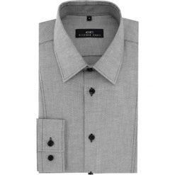 Koszula MICHELE 16-04-01. Szare koszule męskie na spinki marki S.Oliver, l, z bawełny, z włoskim kołnierzykiem, z długim rękawem. Za 169,00 zł.