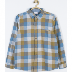 Koszula. Szare koszule chłopięce z długim rękawem SPEEDWAY, z bawełny. Za 75,90 zł.