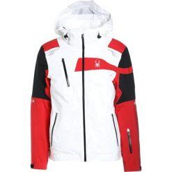 Kurtki narciarskie męskie: Spyder TITAN Kurtka narciarska white/black/red