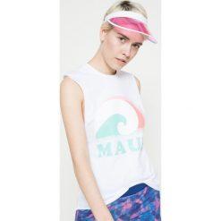 Femi Pleasure - Top IUA. Niebieskie topy damskie marki DOMYOS, z elastanu, street, z okrągłym kołnierzem. W wyprzedaży za 59,90 zł.