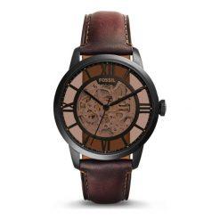 Zegarek męski Fossil Townsman Automatic Dark Brown ME3098. Różowe zegarki męskie marki Fossil, szklane. Za 906,00 zł.