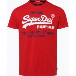 Superdry - T-shirt męski, czerwony. Czerwone t-shirty męskie z nadrukiem Superdry, m, z dżerseju. Za 69,95 zł.