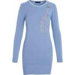 Niebieska Sukienka Unclouded. Niebieskie sukienki dzianinowe Born2be, m. Za 59,99 zł.