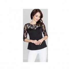 Bluzka K071 Czarny. Czarne bluzki asymetryczne Lenitif, s, w koronkowe wzory, z koronki. Za 79,00 zł.