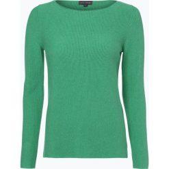 Franco Callegari - Sweter damski, zielony. Zielone swetry klasyczne damskie marki Franco Callegari, z napisami. Za 179,95 zł.