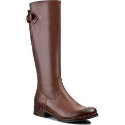 Oficerki LASOCKI - REDA-02 Brązowy. Brązowe buty zimowe damskie Lasocki, ze skóry, przed kolano, na wysokim obcasie, na obcasie. W wyprzedaży za 60,00 zł.