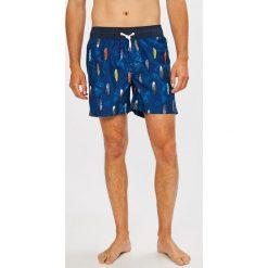 Guess Jeans - Kąpielówki. Niebieskie kąpielówki męskie marki Guess Jeans, z obniżonym stanem. W wyprzedaży za 179,90 zł.