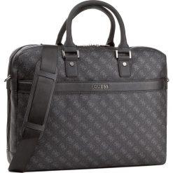Torba na laptopa GUESS - HM6360 POL81 BLA. Czarne plecaki męskie Guess, z aplikacjami, ze skóry ekologicznej. Za 599,00 zł.