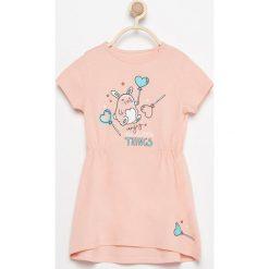 Sukienki niemowlęce: Sukienka z uroczym nadrukiem – Pomarańczo