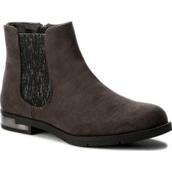 Botki JENNY FAIRY - LS4153-01A Szary Ciemny. Brązowe buty zimowe damskie marki Jenny Fairy, z materiału. W wyprzedaży za 60,00 zł.