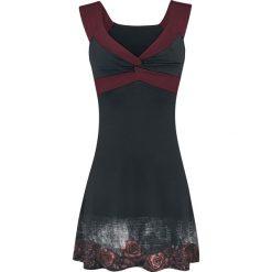 Alchemy England Nevermore Sukienka czarny/bordowy. Czarne sukienki Alchemy England, na imprezę, m, z nadrukiem. Za 144,90 zł.