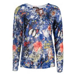 Desigual Sweter Damski Alicia Xl Wielokolorowy. Szare swetry klasyczne damskie Desigual, m. Za 349,00 zł.