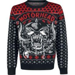 Motörhead Holiday Sweater 2018 Sweter z dzianiny czarny/czerwony. Czarne swetry klasyczne męskie Motörhead, m, z napisami, z dzianiny, z dekoltem na plecach. Za 264,90 zł.